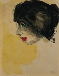 Emil Nolde. Head in Profile (Galka Scheyer), 1919